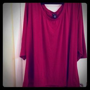 Raspberry 3/4 Sleeve Shirt